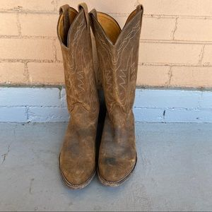 Tony Lama Tanglewood Suede leather cowboy boots